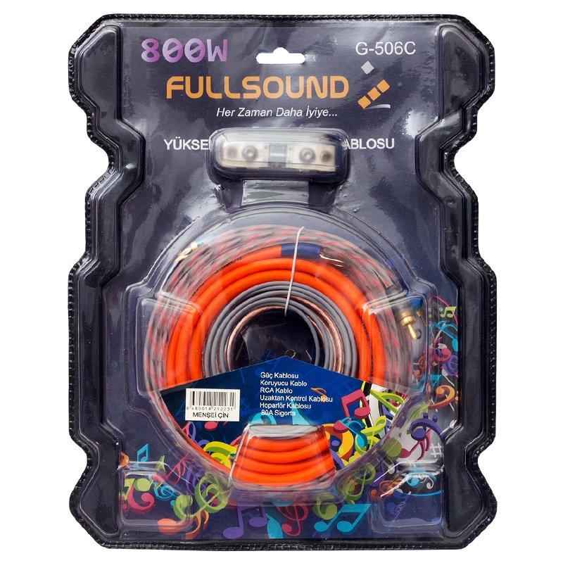 Fullsound 8GA Oto Anfi Kablo Seti G-506C